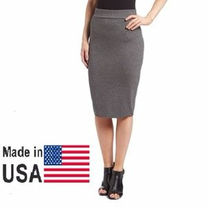 Women Elegant Pencil Skirt, DSK-300, Charcoal